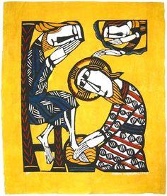 Christ Washing the Feet of St. Peter by Sadao Watanabe