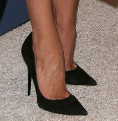Rosie Huntington Whiteley Stuns in Stella McCartney Black Dress and Jimmy Choo Pumps at Variety's Power of Women Luncheon