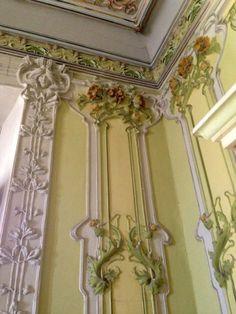 Art Nouveau - Villa Ruggeri - Pesaro - Italie - La Décoration Intérieure