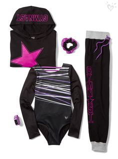 Made-to-match leos, pants and tops perfect for every back flip and balance beam!