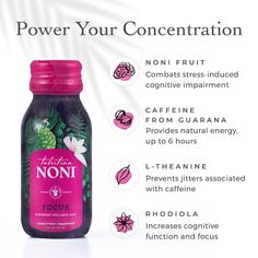 Take a mid-week break to FOCUS, breathe, and get realigned with your goals. 🏆 So you can take on the rest of the week with a renewed boost of energy and mental clarity. #noniFOCUS Noni Fruit, Brain Fog, Natural Energy, Tahitian Noni, Noni Juice, Wellness Shots, Life Symbol, Superfoods, Caffeine