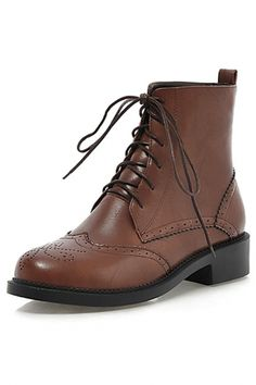 Chic Lace-Up PU Hollow-Out Ankle Booties