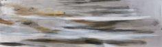 "Riikka Soininen ""Maluri"", oil and gilded aluminium leaf on canvas, 40x140cm"