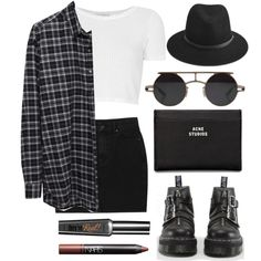 Untitled #51 by natashacocozza on Polyvore featuring mode, 6397, Topshop, Monki, Dr. Martens, rag & bone, Retrò, Acne Studios, NARS Cosmetics and vintage