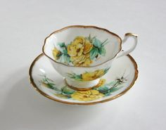 Vintage 1950s Paragon Teacup and Saucer by TheTempestuousTeacup, $22.00