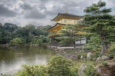 Japon Kinkakuji- temple du pavillon d'or Poster, Affiche | Acheter-le sur Europosters.fr
