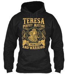 Teresa Pefect Mixture Of Princess Black Sweatshirt Front