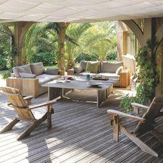 Maison en bois au Cap Ferret pour grande famille - Côté Maison Backyard, Patio, Outdoor Entertaining, Terrace, Beach House, Pergola, Lounge, Shed, Villa