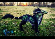 --SOLD--Poseable Forest Guardian Wolf by Wood-Splitter-Lee.deviantart.com on @deviantART