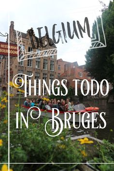 Click to see what can you do in Bruges!!