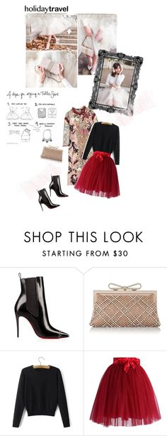"""""""Untitled #1331"""" by ladybirdfb ❤ liked on Polyvore featuring moda, Valentino, Chicwish e travelinstyle"""