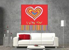 Tablou canvas I Love You - cod I Love You, My Love, Cod, Canvas, Home Decor, Tela, Te Amo, Decoration Home, Je T'aime