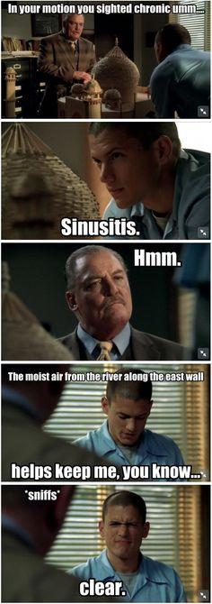 Prison Break. Sinusitis.