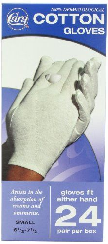 CARA  Dermatological Cotton Gloves, Small, 24 Count Cara https://www.amazon.com/dp/B00CIBQD6Y/ref=cm_sw_r_pi_dp_x_SFwOxbRP19R7K