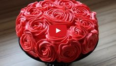 Fantastic a Roses cake decorating and recipe here.  For all detail and video Watch;   ...