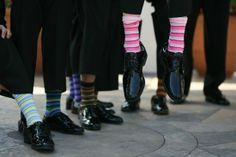 striped socks TOO CUTE....