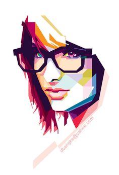 Just a girl on behance wpap art grafika, malarstwo, rysunki Portrait Illustration, Graphic Illustration, Graphic Art, Pose Portrait, Vector Portrait, Pintura Graffiti, Tattoo Foto, Polygon Art, Pop Art Portraits