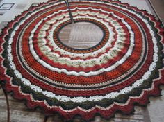 Crochet Christmas tree skirt by GalyaKireva on Etsy