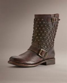 FRYE-Jenna-Disc-Short-Moto-Boots-Brown-Leather-358-Size-7-NEW-IN-BOX
