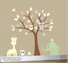 Childrens wall decor  nursery wall tree with by couturedecals