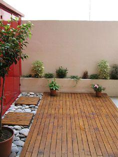 Decoracion Un Patio Interno Con Deck Pileta Y Parrilla