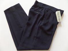 JIORGIC SANT ANGELE Women's Pants Size-8 Relaxed Navy Zipper Very Good! #JIORGICSANTANGELE #DressPants
