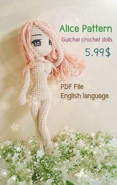 Alice Pattern, Amigurumi Pattern, Gucihai Pattern Loli collection Alice