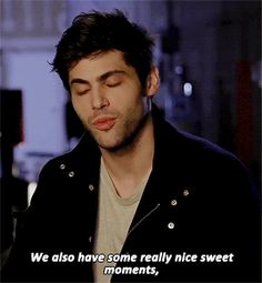 """magswoods: """"Matthew Daddario about Malec in 2b. """""""