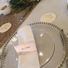 Glass charger plate with gold beaded edge Charger Plates, Gold Beads, Events, Wedding Ideas, Glass, Drinkware, Glas