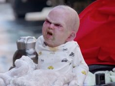 Latest horror movie ad prank, with a screaming devil baby. This is funny