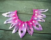 pink tribal felt necklace