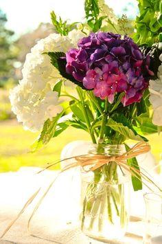 Hortencias en florero