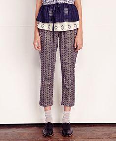 ace&jig/エース・アンド・ジグ - ペグトップパンツ pegged trouser (ditsy) - SIAMESE (サイアミーズ) オンラインセレクトショップ