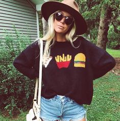 outfit, casual, stylish, trendy, beauty, fashion blogger, influencer, outfits, outfit ideas, shop, shopping, fashion trends, cure, fashion, for women, simple, style, to follow, inspiration, adventure, travel, paradise, ootd, basics, chic, luxury, shop by influencer, foray collective, 2016, fall, fall 2016, fall fashion, graphics, shop graphics, graphic tees, graphic designs, graphic tee outfit, vintage, hipster, the salty blonde, wildfox, sweater, denim, hat #HatsForWomenHipster
