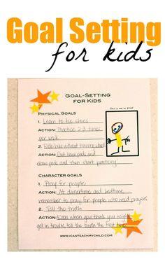 Goal Setting for Kids (free printable)