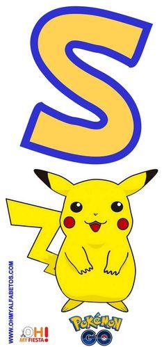 Pokemon Party, Pokemon Birthday, Pokemon Number, Fotos Do Pokemon, Pokemon Go Cheats, Pikachu Art, Alphabet And Numbers, Childrens Party, Baby Party