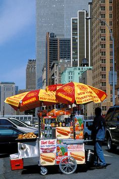 1:30 pm Time to find this hot dog vendor near Battery Park. Yum!