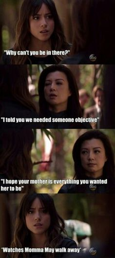 "#AgentsofSHIELD 2x20 ""Scars"" - Skye and May"
