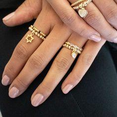 Genuine Swarovski Crystal Gold Ring Bracelet Sizes, Gold Beads, Clear Crystal, Annie, Jewelry Gifts, Swarovski Crystals, Gold Rings, Silver Jewelry, Bangles