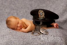 Newborn Baby Photography  Law Enforcement  Police Office  www.lesatkinsphotography.com