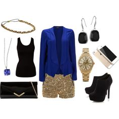 """""""Enjoy a night out on the town with these pieces from ELLE Time and Jewelry."""" by elle-jewelry on Polyvore"""