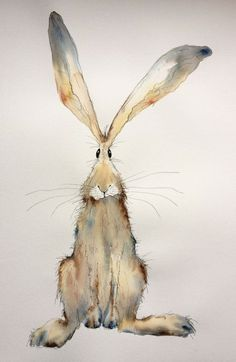 Items similar to Tabitha - Large Original Watercolour and Ink hare painting, hare watercolour, hare original on Etsy drawings aquarell Items similar to Tabitha - Large Original Watercolour and Ink hare painting, hare watercolour, hare original on Etsy Watercolor Animals, Watercolor And Ink, Watercolor Paintings, Watercolours, Watercolour Drawings, Animal Paintings, Animal Drawings, Art Drawings, Easter Drawings