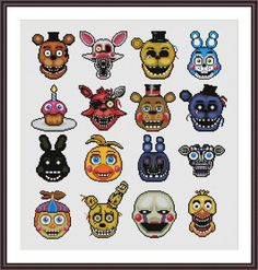 Five Nights at Freddy's Cross Stitch Pattern | Craftsy