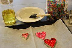 Kässää Mankolassa: tarvikkeet Hama-helmien uunissa paistamista varten