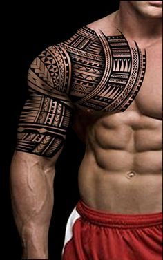 Half Sleeve Tribal Tattoo Designs For Men Bohemian Tattoos