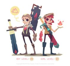 Video game character design collection on Behance