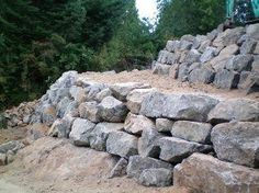 pictures of boulder retaining walls | Retaining Walls
