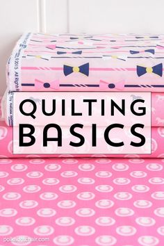 Sewing Quilts Learn some of the basics of quilting to help get you started if you're a beginning quilter. - Learn some Quilting Basics for beginners including tips and tricks to help you get started quilting. Find out how to start making a qulit. Quilting 101, Quilting For Beginners, Quilting Tutorials, Sewing Tutorials, Quilting Projects, Dress Tutorials, Quilting Ideas, Easy Sewing Projects, Sewing Projects For Beginners