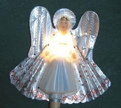 Timco Angel Christmas Tree Topper Lights by VintageJewelsAndMore, $30.00