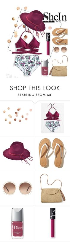 """WIN SHEIN $30 COUPON"" by floraniar ❤ liked on Polyvore featuring Umbra, Hollister Co., Chloé, Mar y Sol, Christian Dior and NARS Cosmetics"